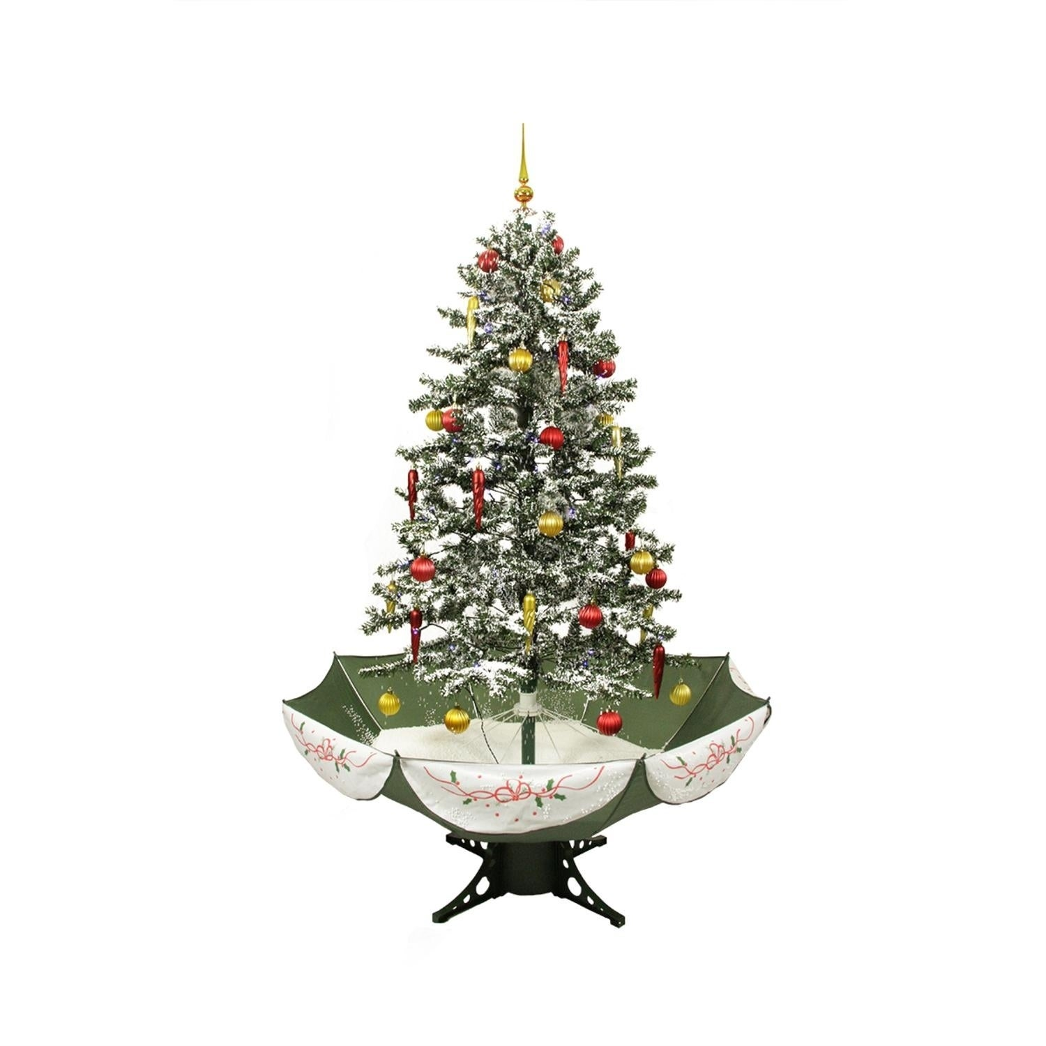 Shop 5.5' Pre-Lit Musical Snowing Artificial Christmas Tree - Blue LED Lights - Free Shipping Today - Overstock - 17289171