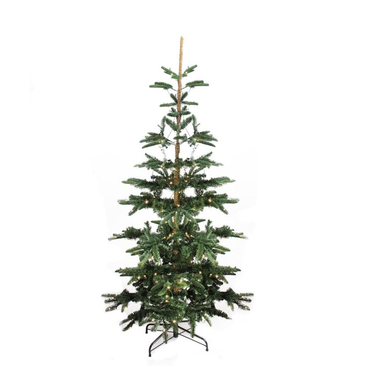 Shop 7.5\' Pre-Lit Layered Noble Fir Artificial Christmas Tree - Warm ...