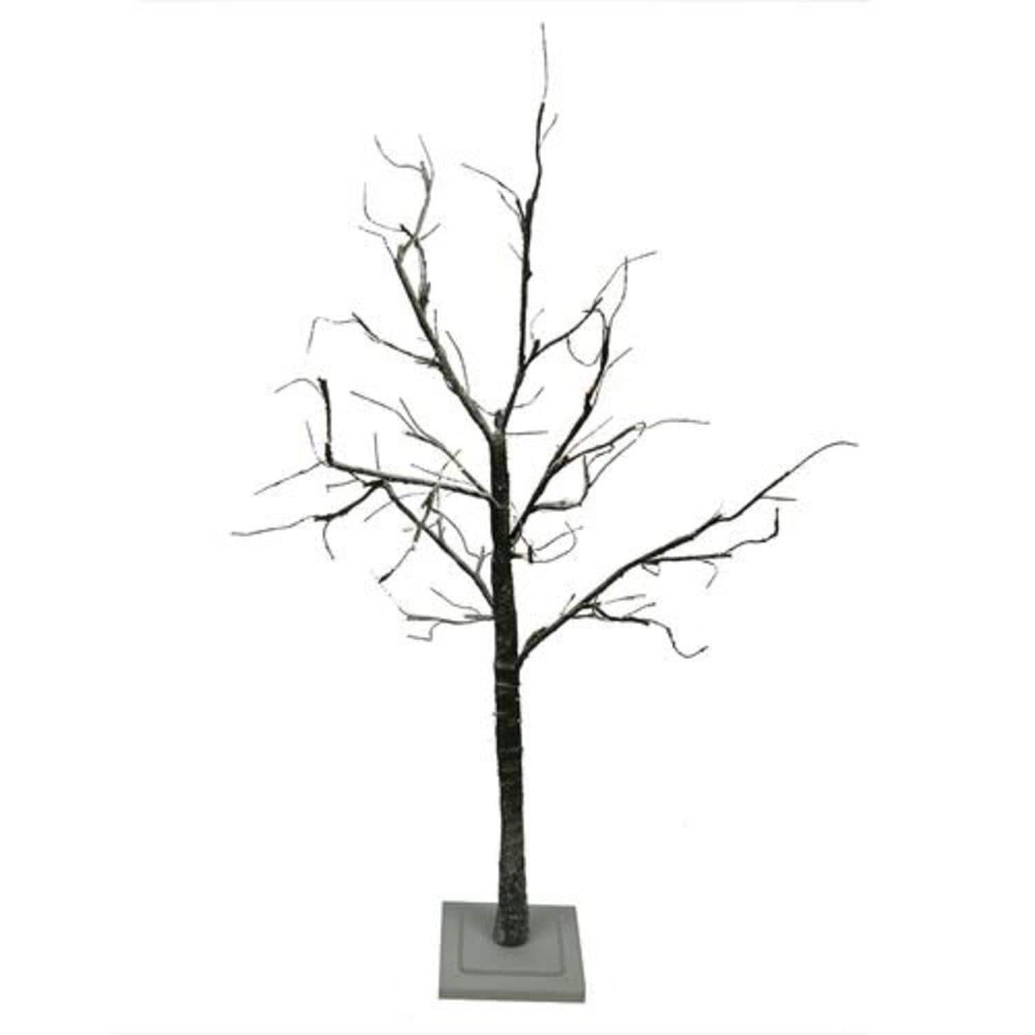 4' LED Lighted Flocked Christmas Twig Tree Outdoor Yard Art Decoration -  Warm Clear - Free Shipping Today - Overstock.com - 23539336