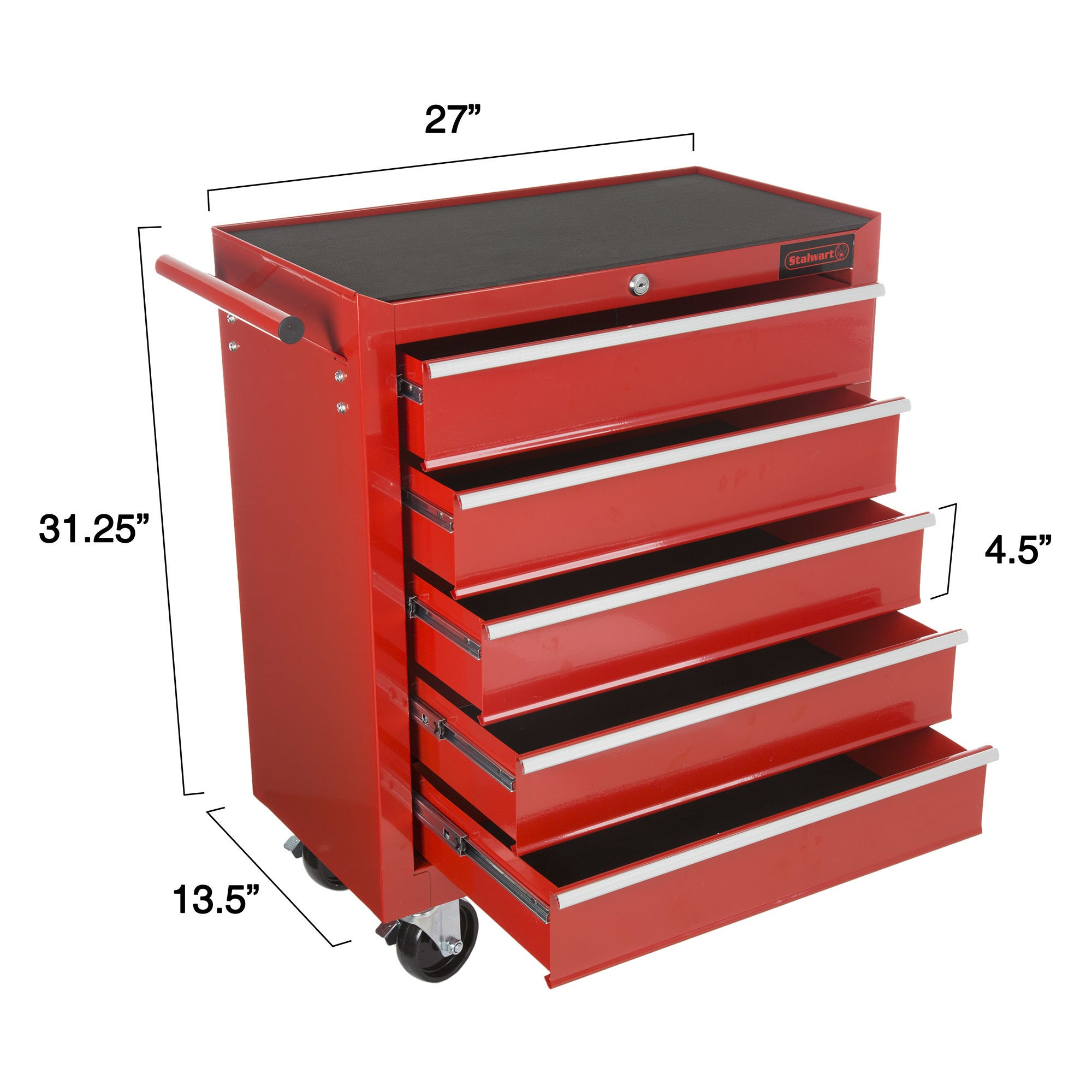 Shop Rolling Tool Box Cabinet, 5 Drawer Portable Storage Chest Tools  Organizer With Wheels By Stalwart (Red)   Free Shipping Today    Overstock.com   ...