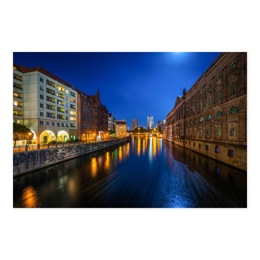 Noir Gallery Berlin Germany River At Night Fine Art Photo Print