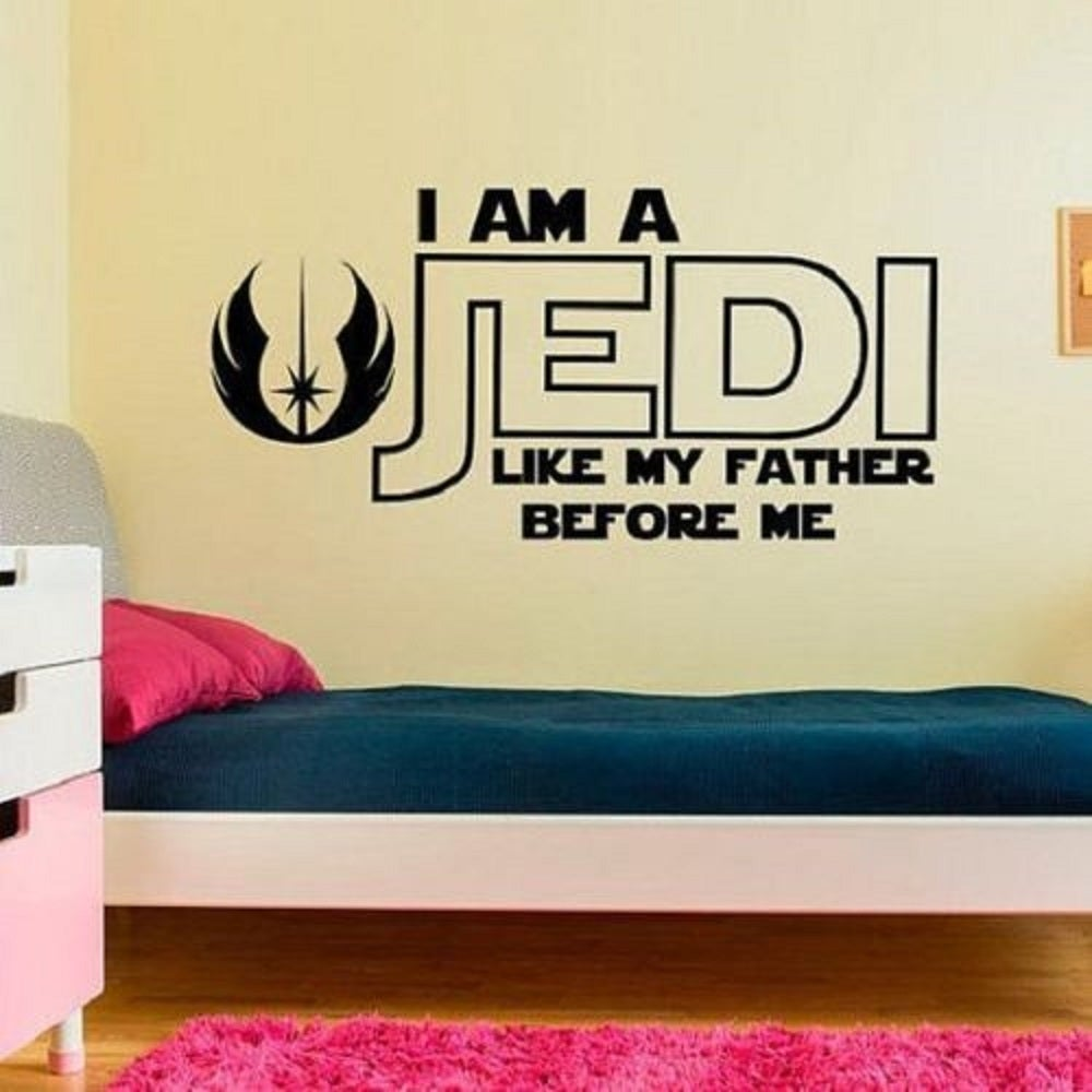 STAR WARS I AM A JEDI LIKE MY FATHER BEFORE ME Wall Decal Words ...