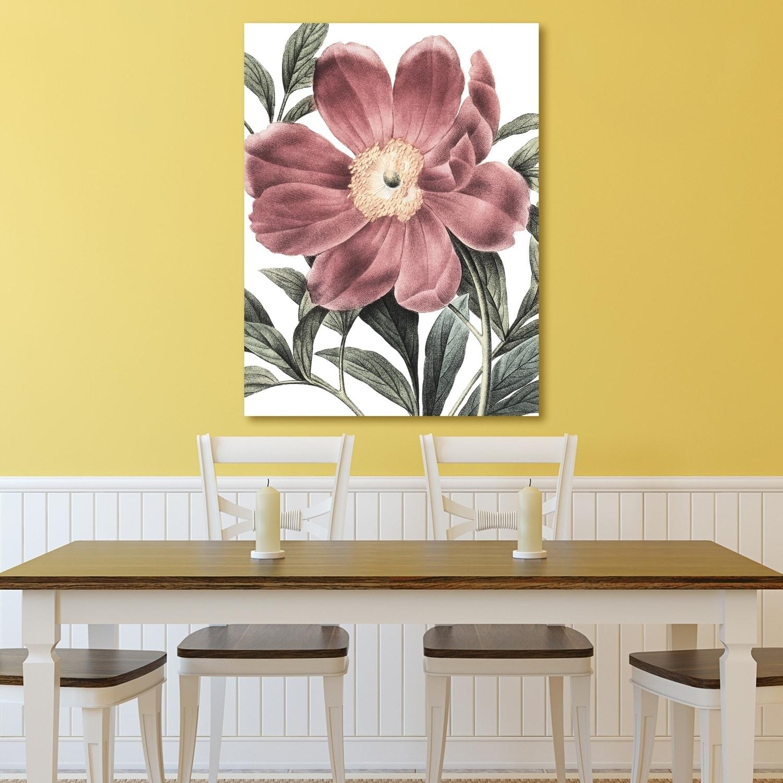 Portfolio Canvas Decor Redoute Paeonia Pink DT Crop Canvas Wall Art ...