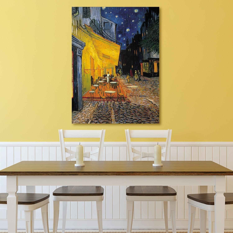 Portfolio Canvas Decor Cafe Terrace at Night Canvas Wall Art - Free ...