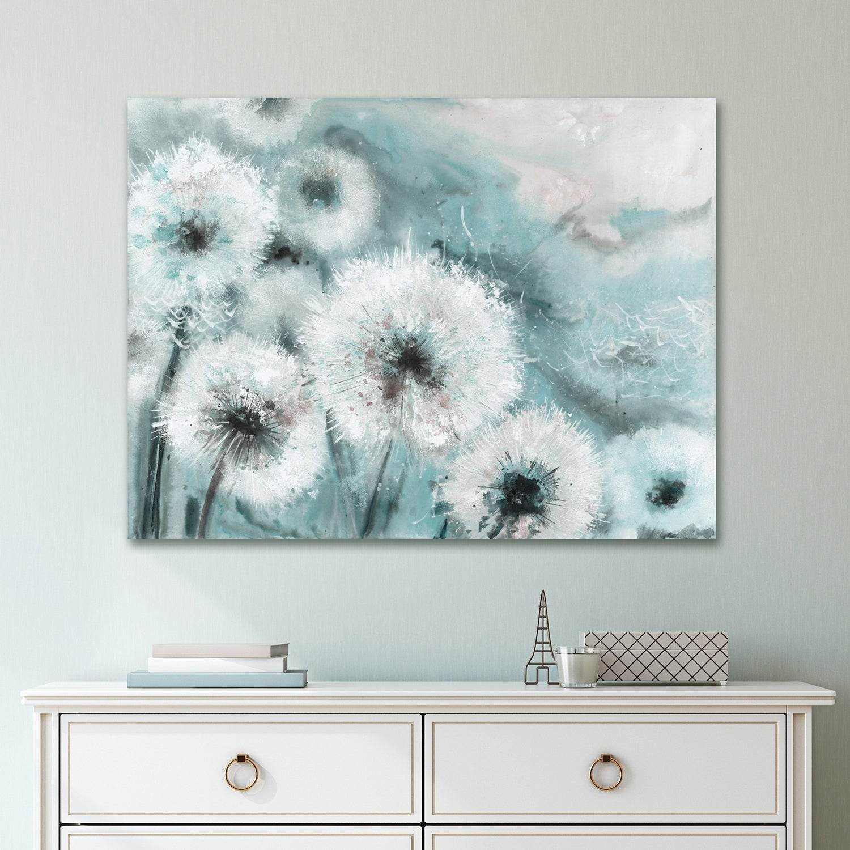 Shop Portfolio Canvas Decor Watercolor Wishes Teal Canvas Wall Art ...
