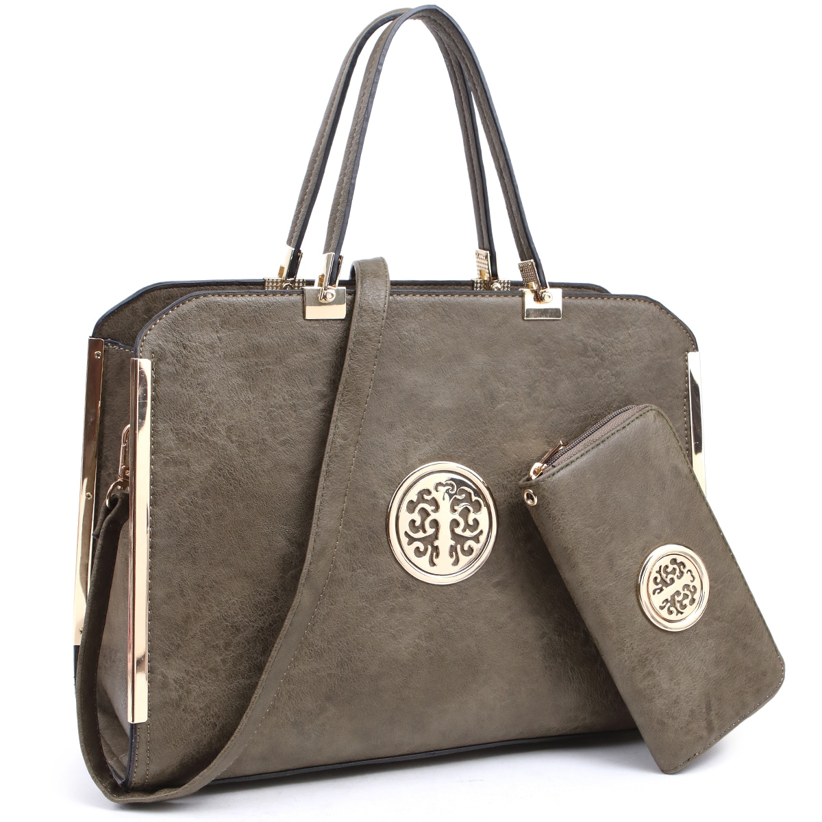 Dasein Large Washed Texture Laptop Briefcase Handbag With Matching Wallet Free Shipping Today 23557642