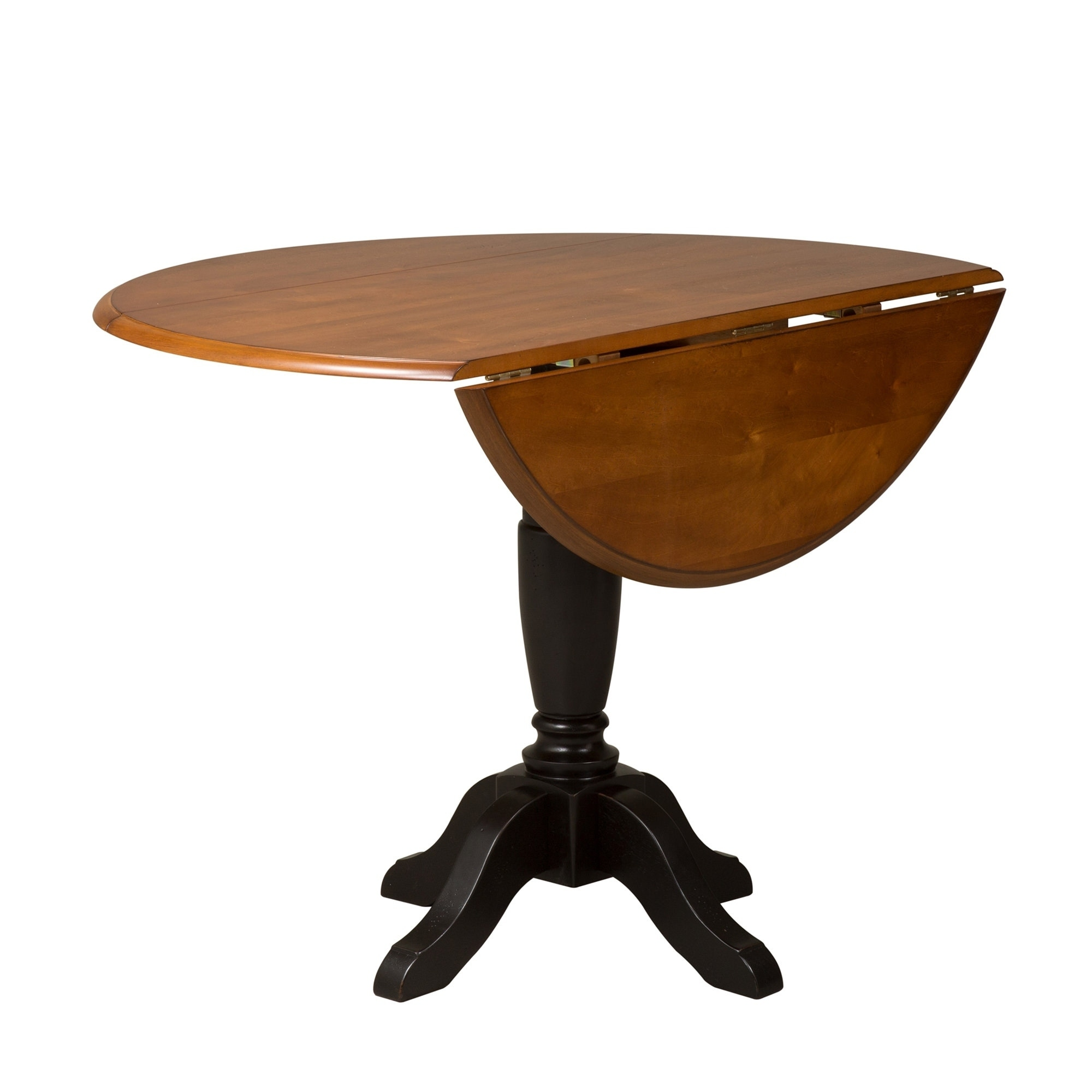 Shop Low Country Black And Bronze 42 Inch Round Drop Leaf Pedestal Table    Free Shipping Today   Overstock.com   17311036