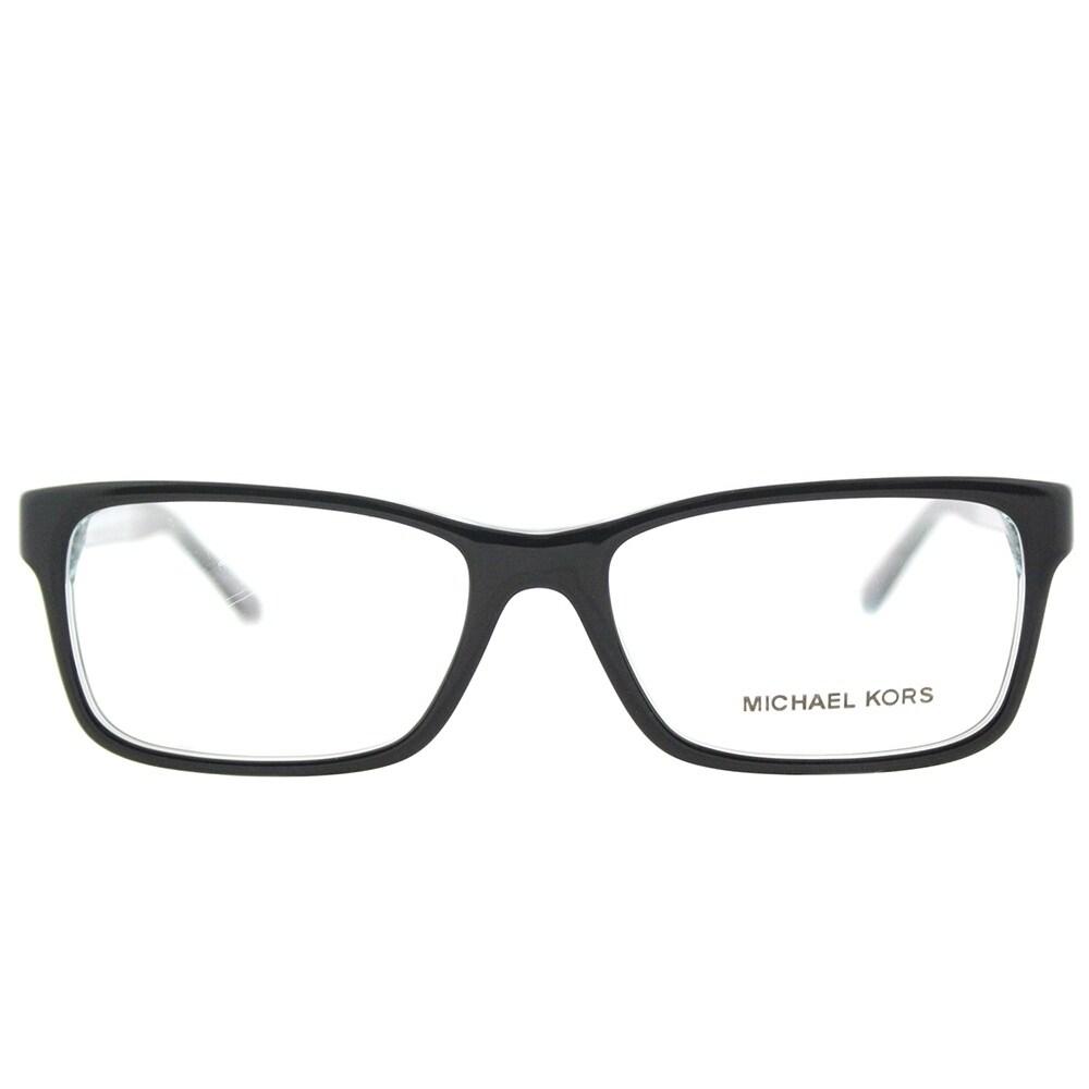 78f303d0547 Shop Michael Kors Rectangle MK 4043 3250 Womens Black Teal Crystal Frame  Eyeglasses - Free Shipping Today - Overstock - 17320603