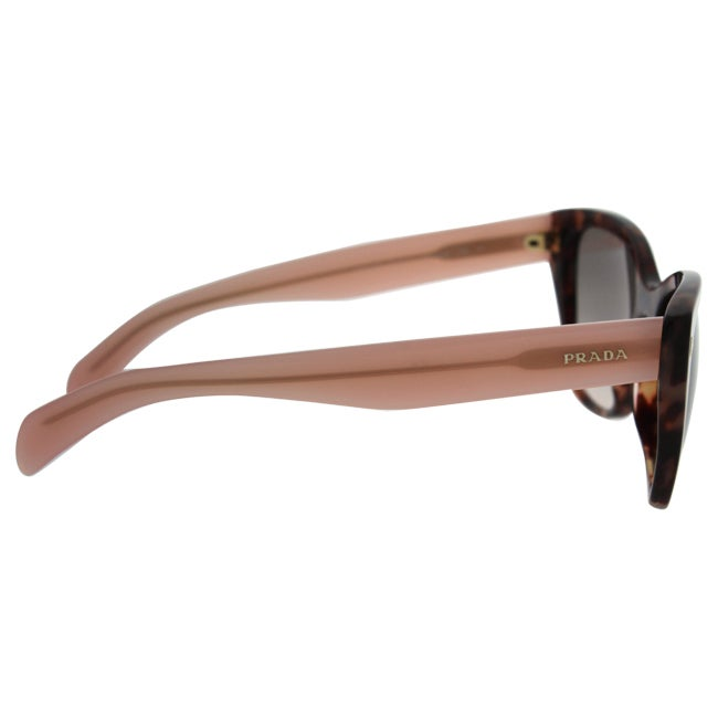 2687e58080 ... denmark shop prada spr 09s ue0 4k0 womens spotted brown pink light pink  grey shaded sunglasses