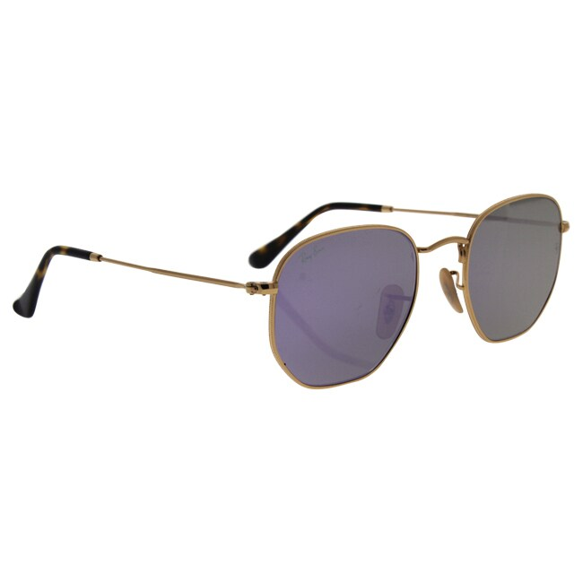 Shop Ray-Ban RB3548N Hexagonal Flat Lenses Sunglasses Gold  Lilac Flash  51mm - Gold - Free Shipping Today - Overstock.com - 17334714 c799020acd4e