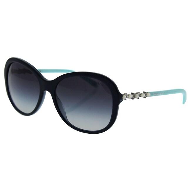 8784b78ea15 Shop Tiffany   Co TF 4104-H-B 8191 3C - Women s Pearl Sapphire Grey  Gradient Sunglasses - Ships To Canada - Overstock.ca - 17334722