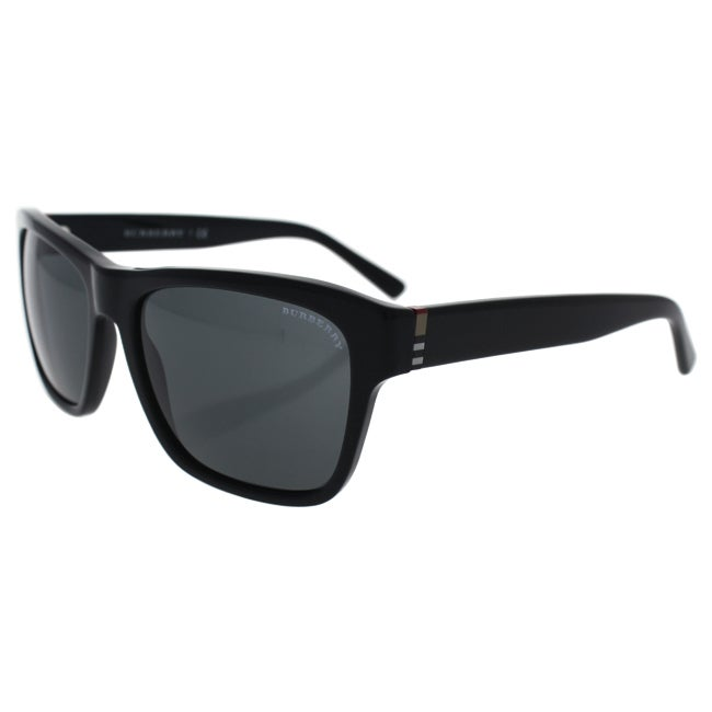 4669626e886 Shop Burberry BE 4194 3001 87 - Unisex Black Grey Sunglasses - Free  Shipping Today - Overstock - 17334879