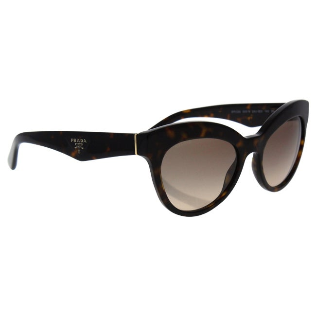 ba1ba6746ef cheap pre owned prada cinma cat eye sunglasses 195 liked f3316 8157d  new  zealand shop prada spr 23q 2au 3d0 womens havana frame light brown gradient  light ...