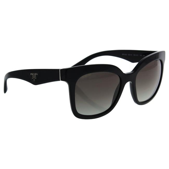 22155dbe4a668 ... canada shop prada spr 24q 1ab 0a7 womens black frame grey gradient lens sunglass  free shipping