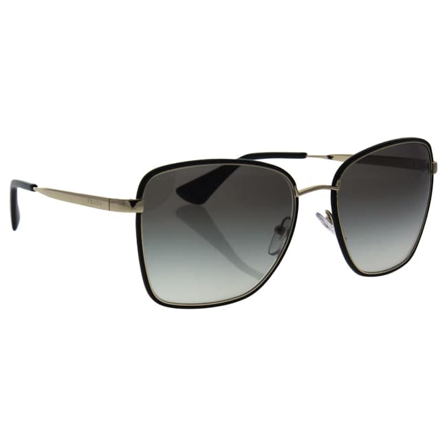 0004a314c7b64 Shop Prada SPR 52S 1AB-0A7 - Women s Black Pale Gold Grey Gradient  Sunglasses - Ships To Canada - Overstock.ca - 17334976