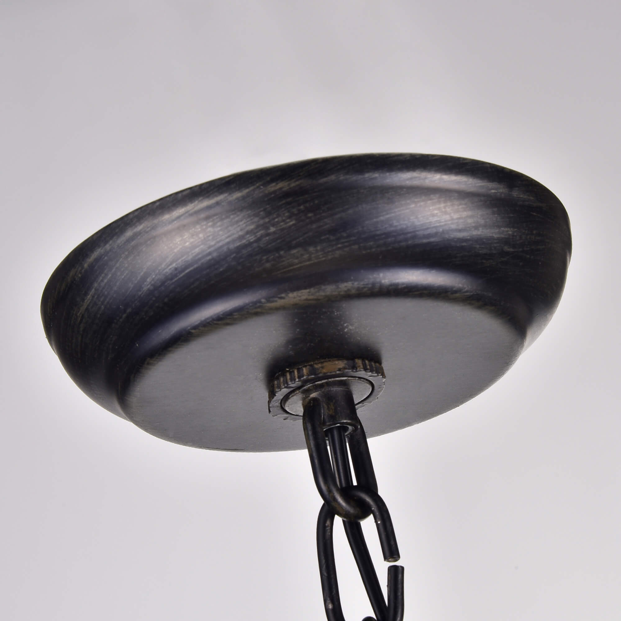 Shop Benita Antique Black Handcrafted Wooden Adjustable Orb Pendant ...