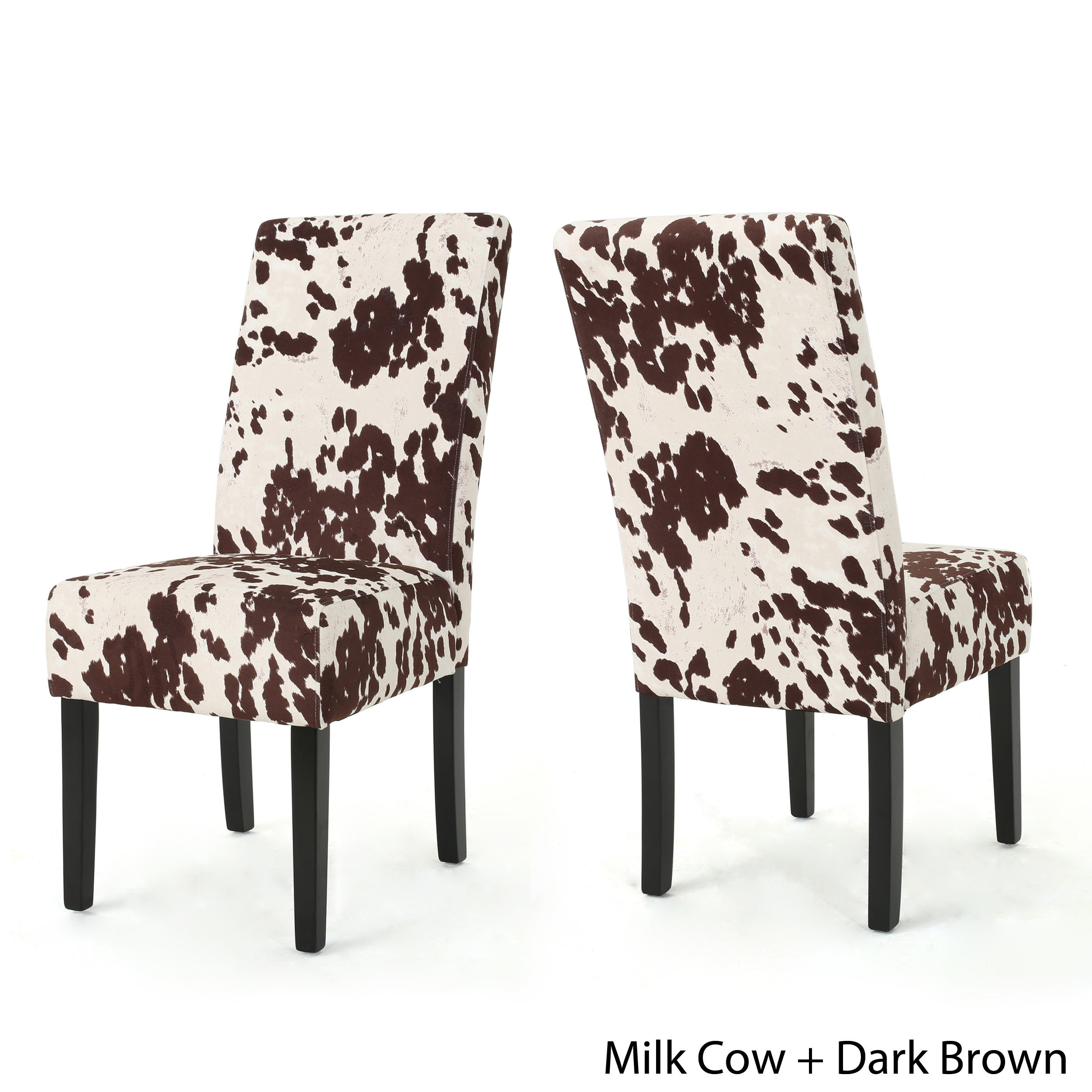 Shop Pertica Contemporary Milk Cow Velvet Dining Chair (Set Of 2) By  Christopher Knight Home   On Sale   Free Shipping Today   Overstock.com    17338822