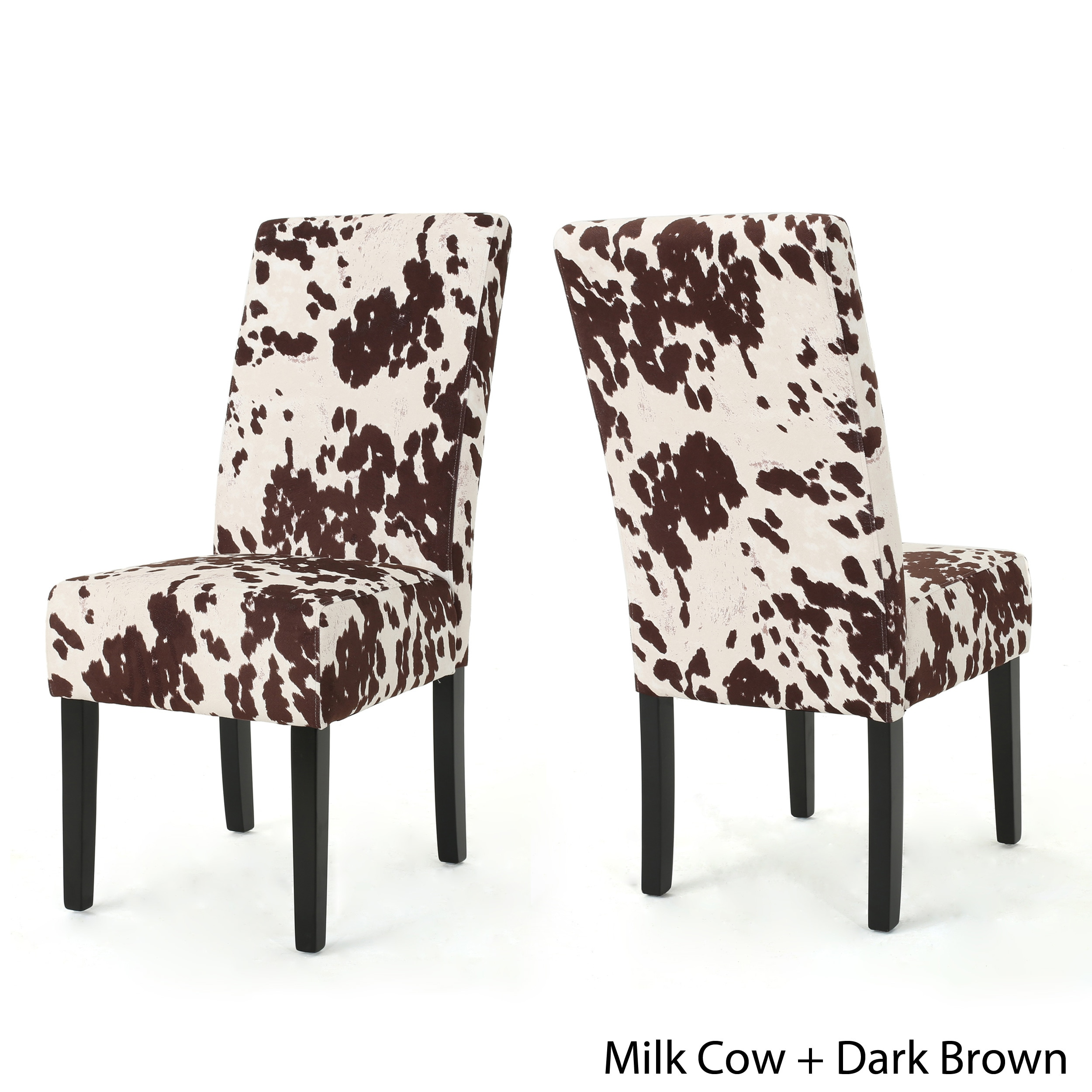Charmant Shop Pertica Contemporary Milk Cow Velvet Dining Chair (Set Of 2) By  Christopher Knight Home   On Sale   Free Shipping Today   Overstock.com    17338822