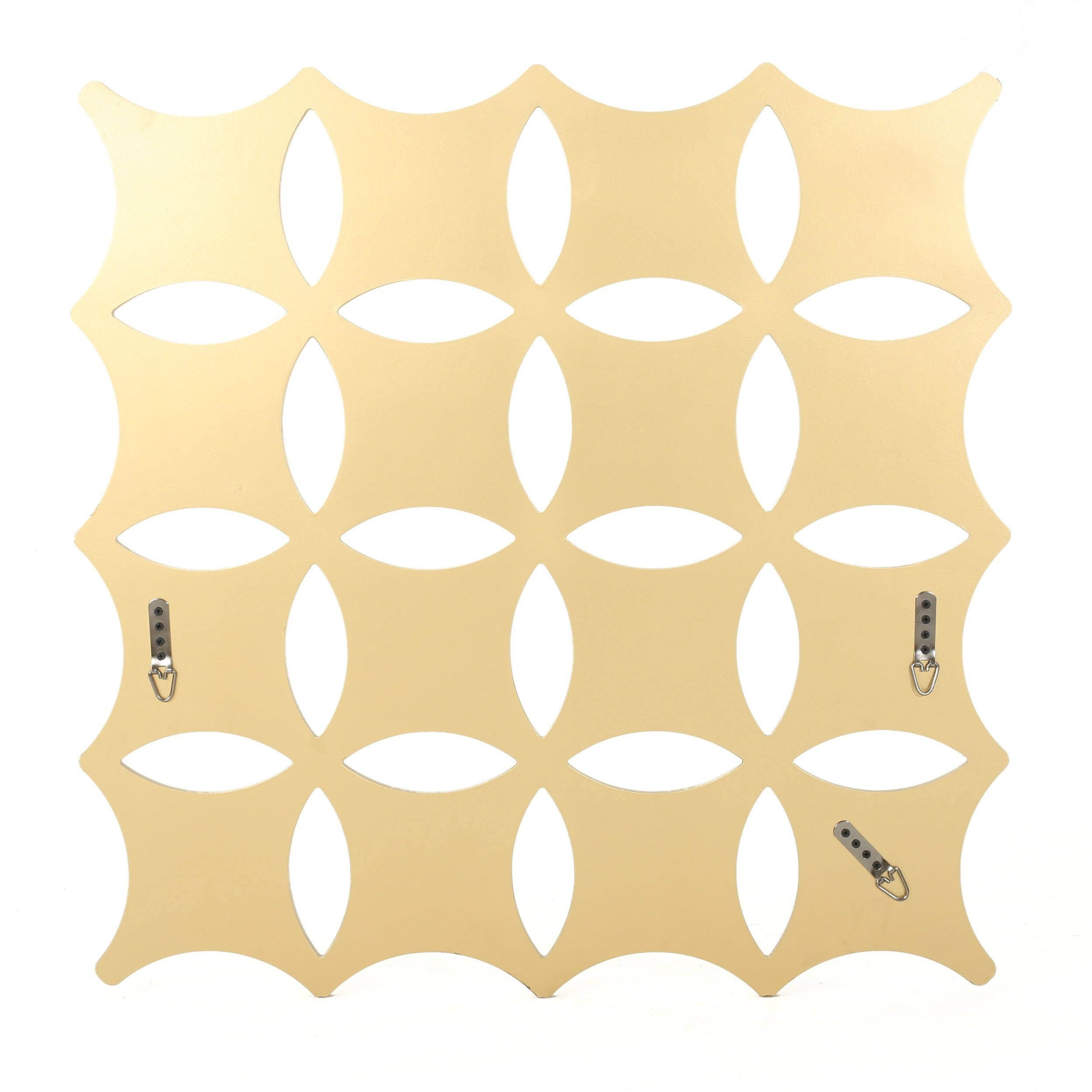 Shop Melina Honeycomb Square Wall Mirror by Christopher Knight Home ...