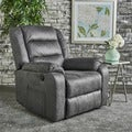 Adrianne Microfiber Power Recliner by Christopher Knight Home
