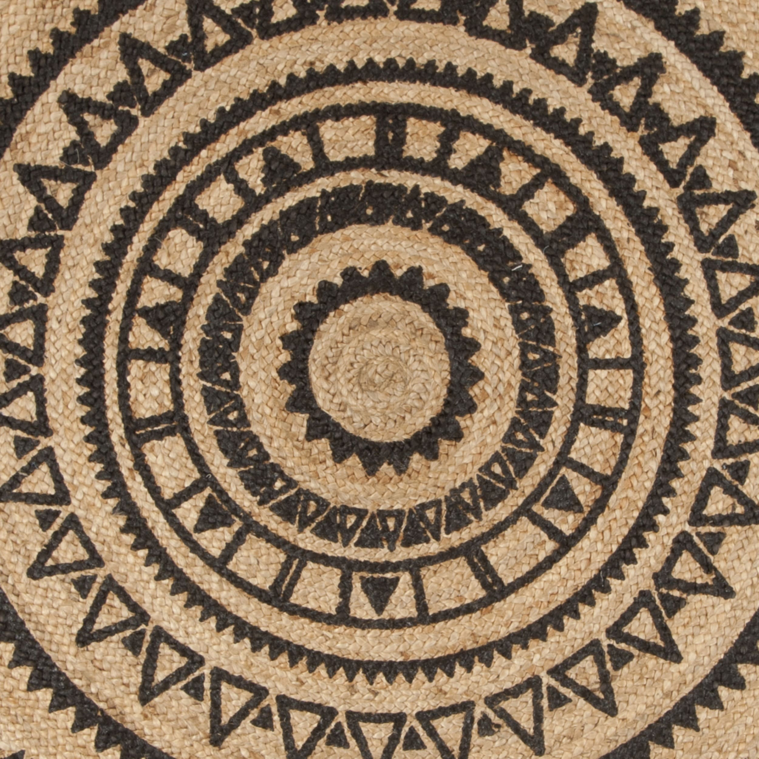 Safavieh Hand Woven Natural Fiber Black Jute Rug 6 X Round On Free Shipping Today 17350304