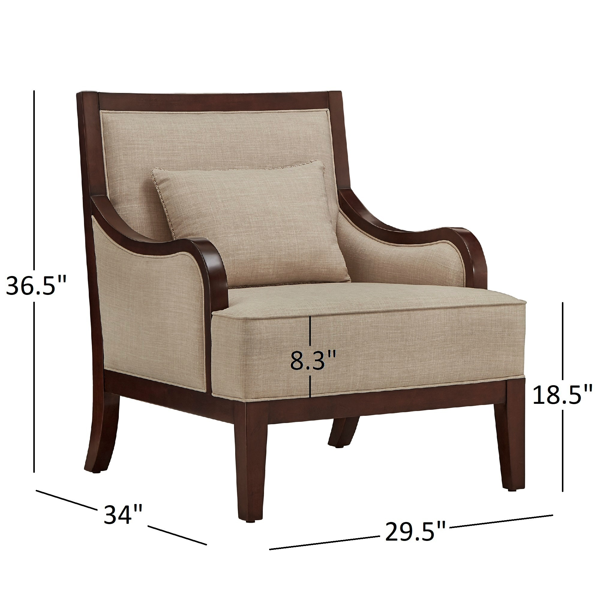 Delightful Brenda Espresso Wood Transitional Accent Chair By INSPIRE Q Classic   Free  Shipping Today   Overstock   23594561