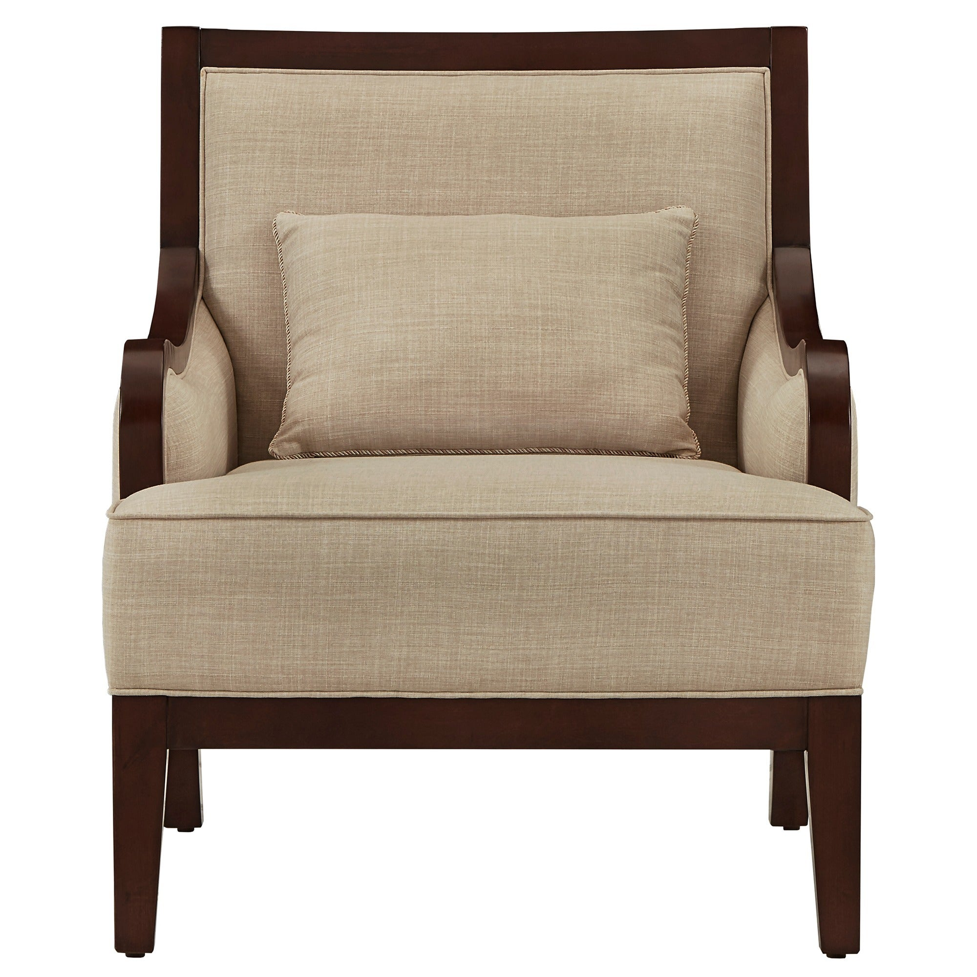 Good Brenda Espresso Wood Transitional Accent Chair By INSPIRE Q Classic   Free  Shipping Today   Overstock   23594561