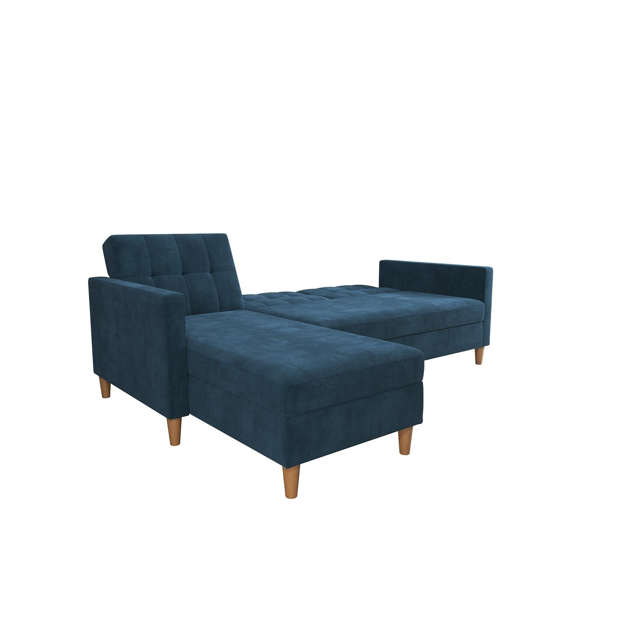 DHP Hartford Chenille Storage Sectional Futon Free Shipping