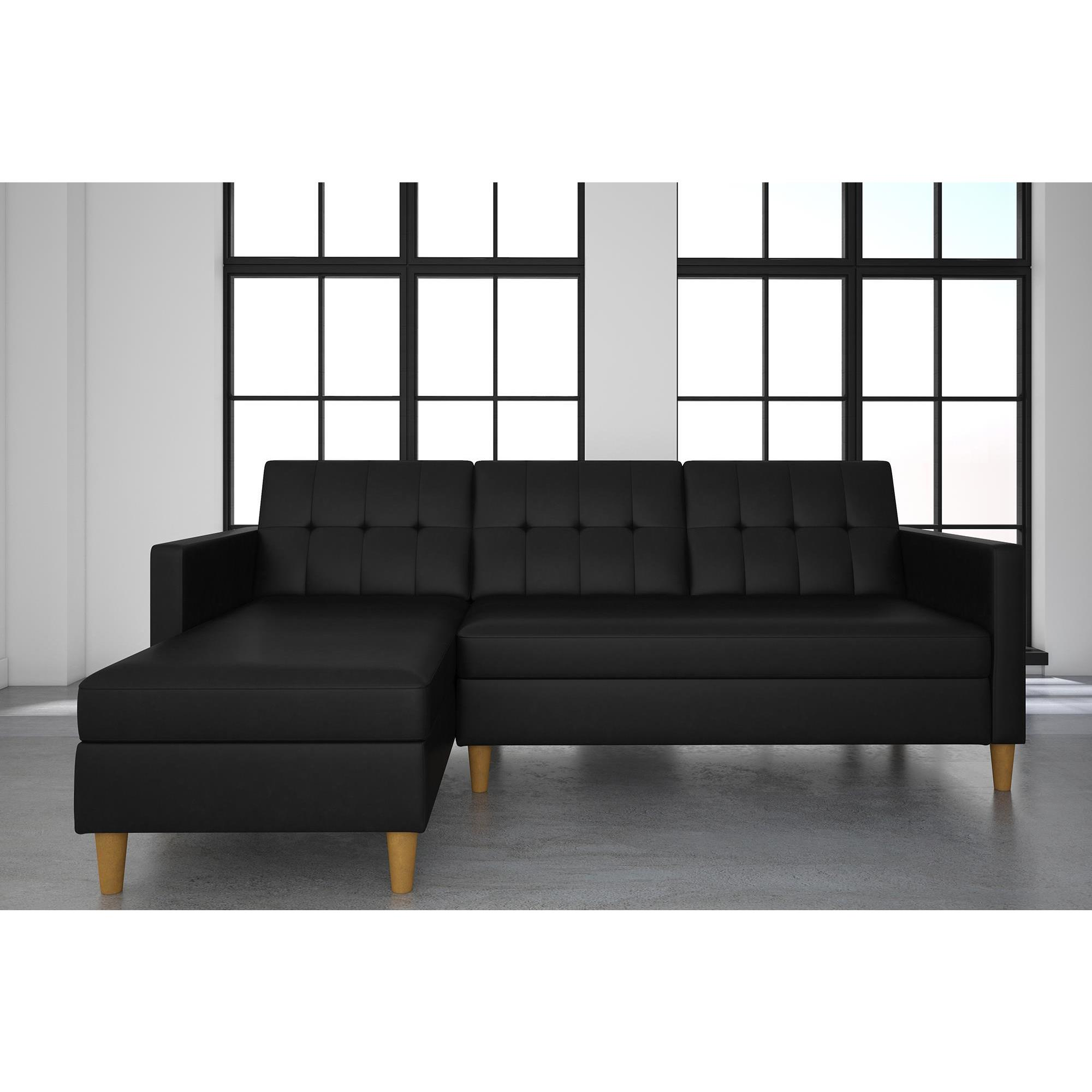 allegra dhp black plush couch walmart com for futons top futon less microfiber ip pillow