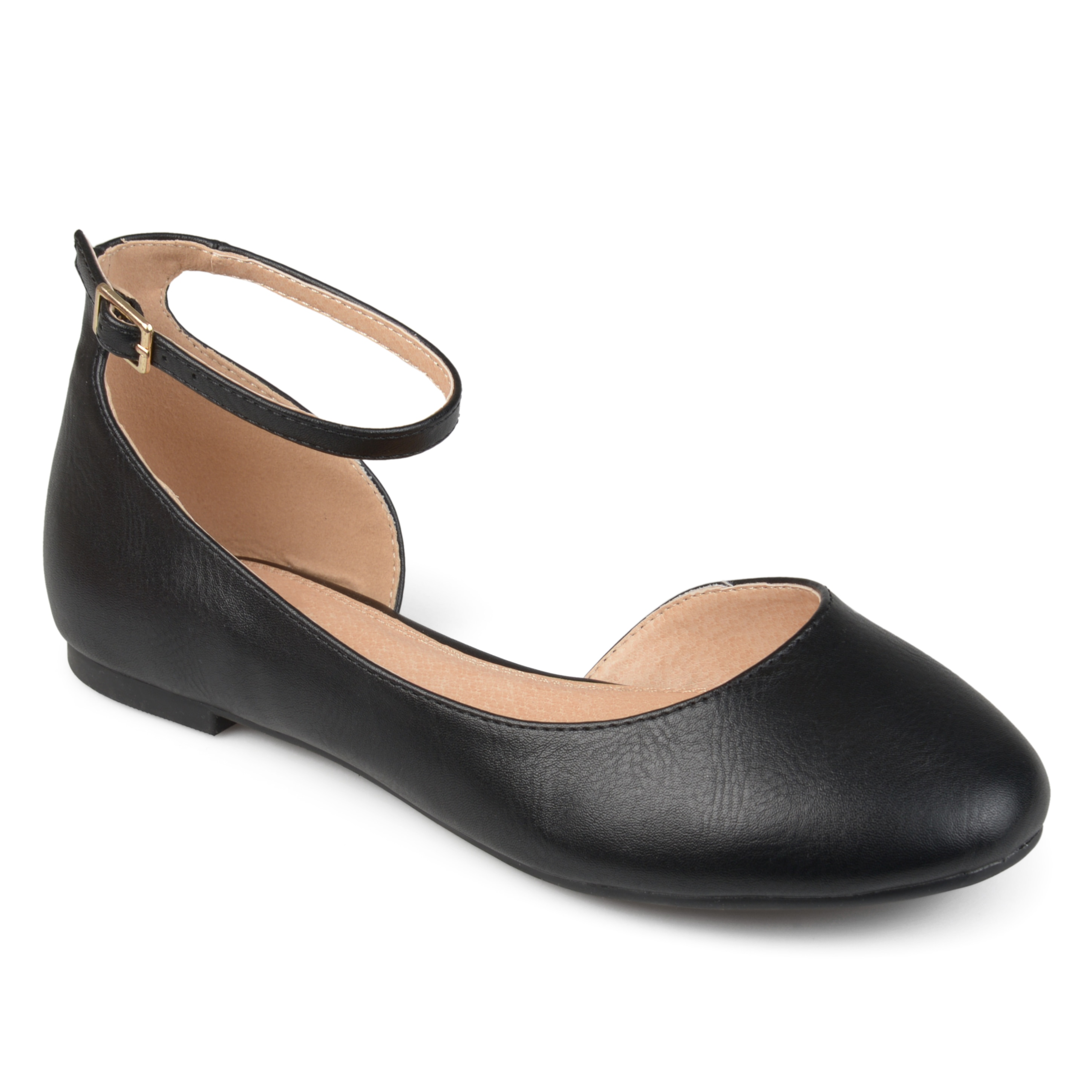 f7a383211eb2 Journee Collection Women s  Astley  Wide Width D orsay Ankle Strap Round  Toe Flats