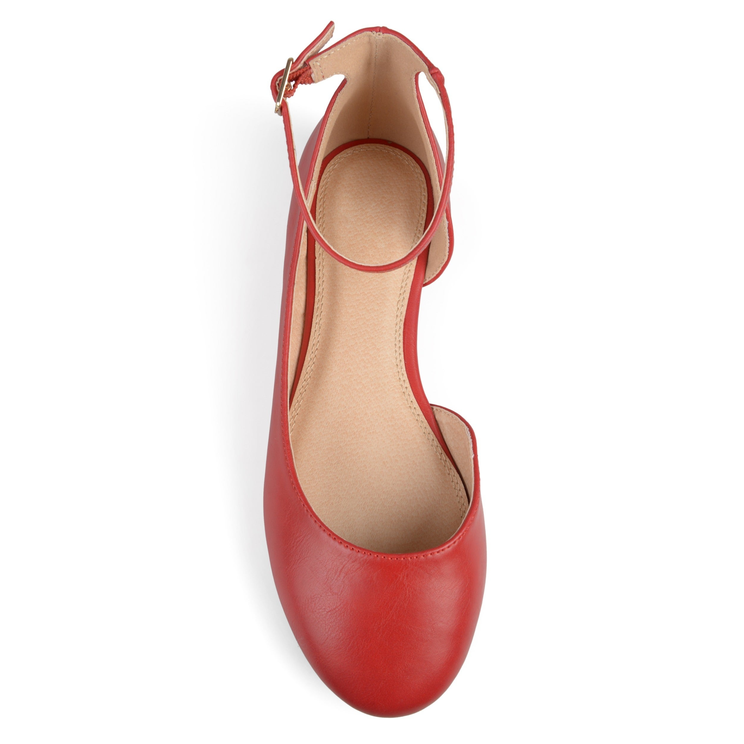 30e374e999e Shop Journee Collection Women s  Astley  Wide Width D orsay Ankle Strap  Round Toe Flats - On Sale - Free Shipping On Orders Over  45 - Overstock -  17351600
