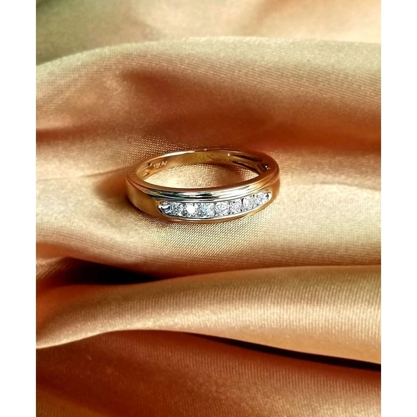 a696132ec72 Shop 10kt yellow gold or white gold 1 6 ct tdw men s diamond ring ...