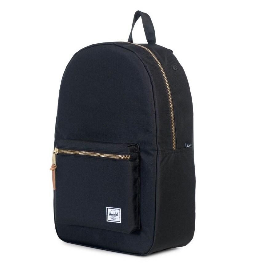 992fb658a5 Shop Herschel Settlemen Black Backpack - Free Shipping Today -  Overstock.com - 17353924