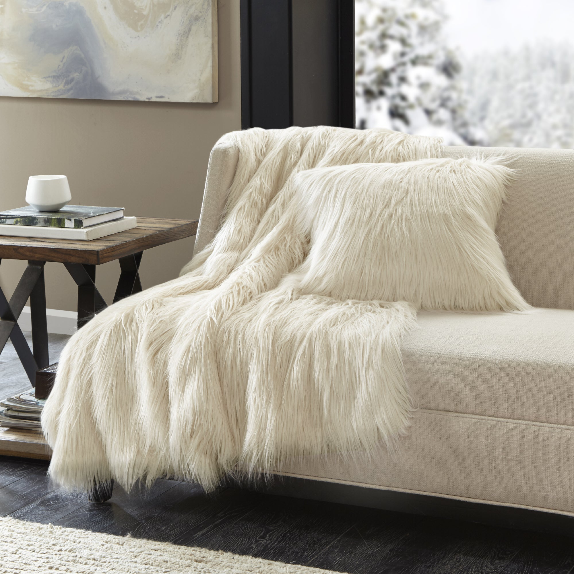Clay Alder Home Eandco Premium Luxury Faux Fur Throw On Free Shipping Today 21181436