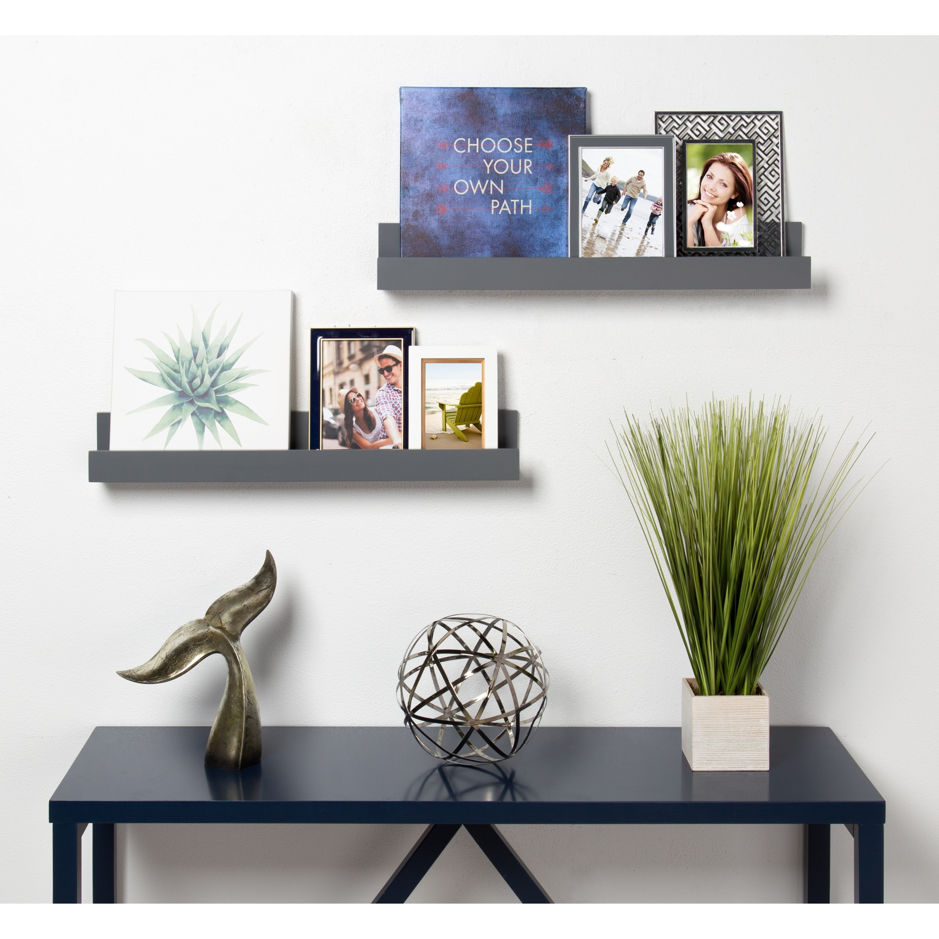 Kate and laurel levie 24 inch 2 pack wood wall picture frame kate and laurel levie 24 inch 2 pack wood wall picture frame holder ledge free shipping on orders over 45 overstock 23599753 jeuxipadfo Choice Image