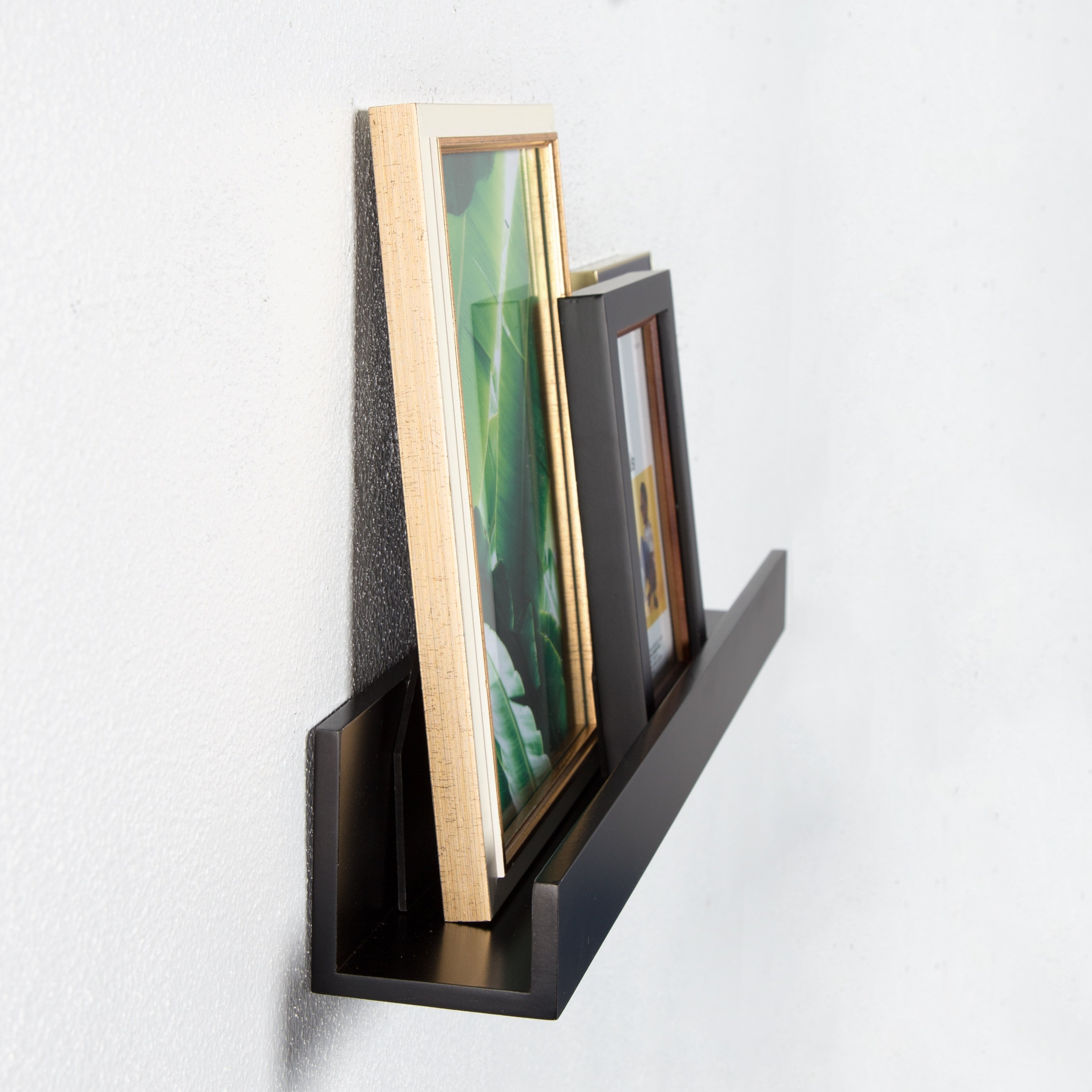 Shop Levie 24 inch 2-Pack Wood Wall Picture Frame Holder Ledge ...