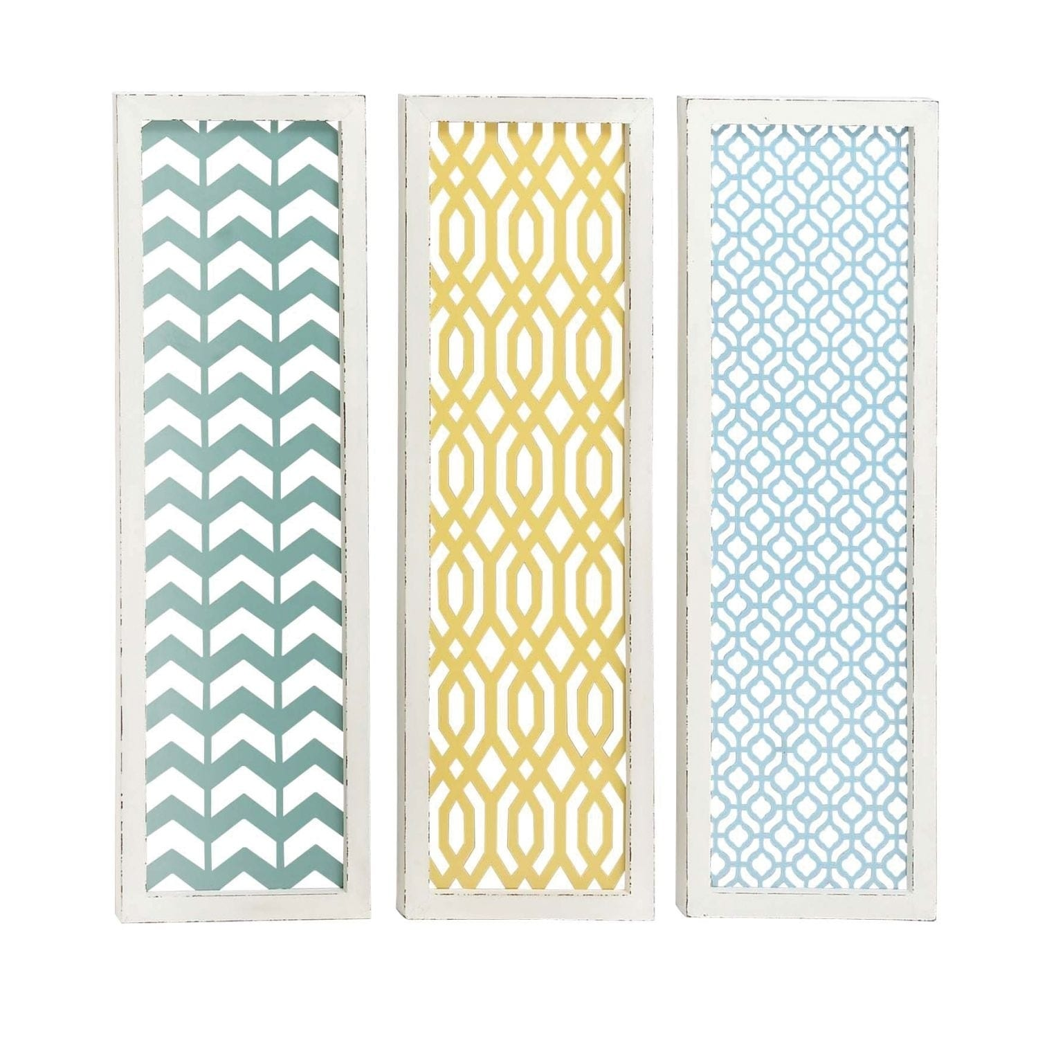 Shop Studio 350 Metal Wall Decor Set of 3, 12 inches wide, 39 inches ...