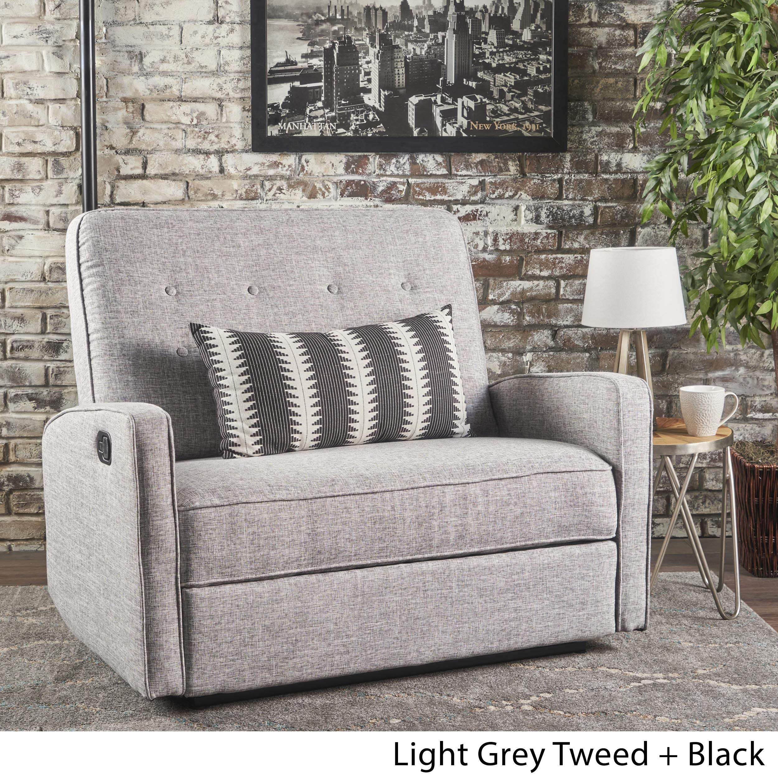 Bon Shop Christopher Knight Home Calliope Buttoned Fabric 2 Seat Recliner Club  Chair   On Sale   Free Shipping Today   Overstock.com   17362041