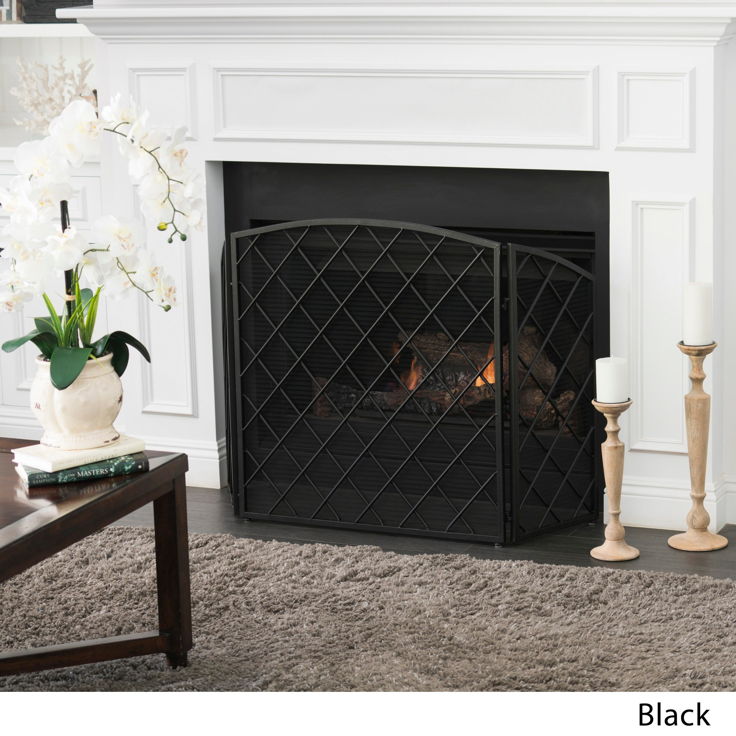 Shop Amiyah 3 Panel Iron Fireplace Screen By Christopher Knight Home