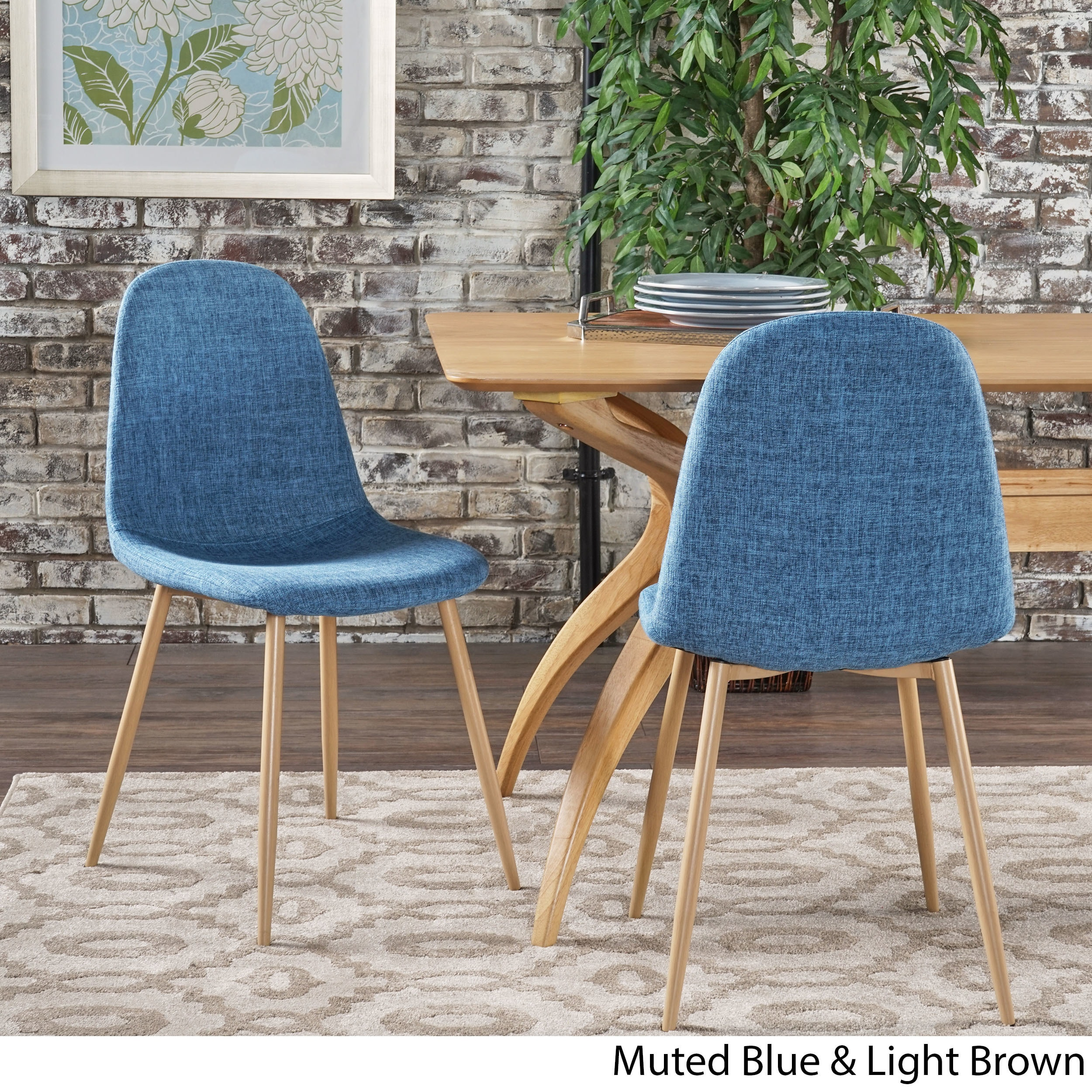 Raina Mid Century Modern Fabric Dining Chair Set Of 2 By Christopher Knight Home On Free Shipping Today 17364651