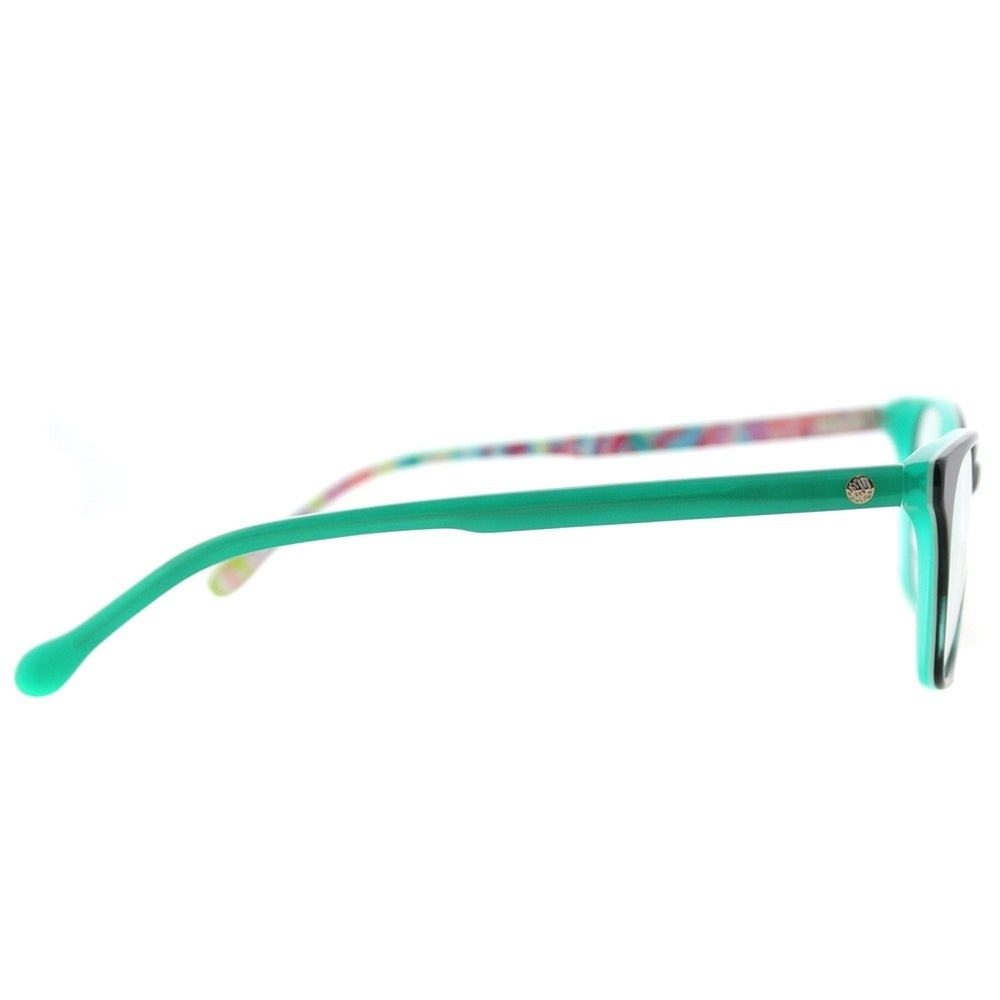 c05b73cbb3 Shop Lilly Pulitzer Rectangle Sydney GN Womens Green Frame Eyeglasses -  Free Shipping Today - Overstock - 17370302