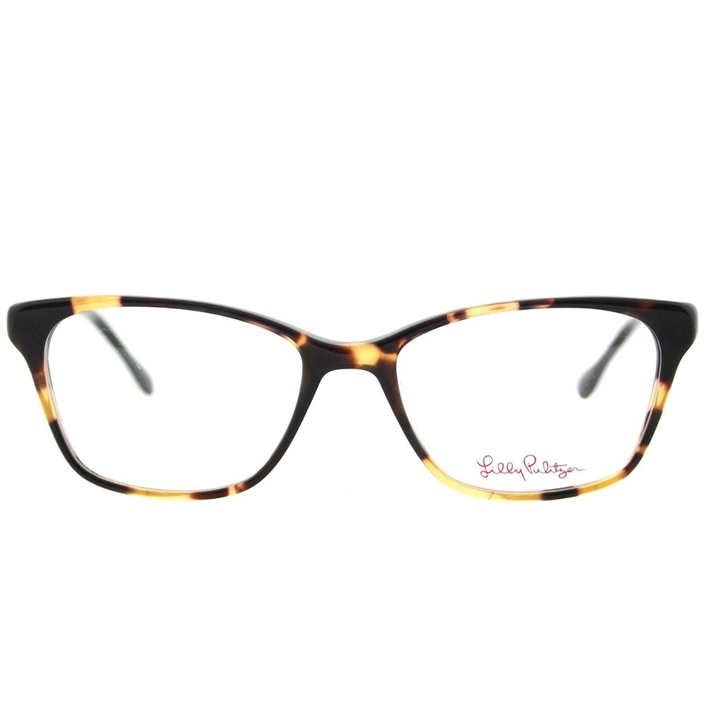 Lilly Pulitzer Rectangle Lindley TO/NV Tortoise Navy Frame ...