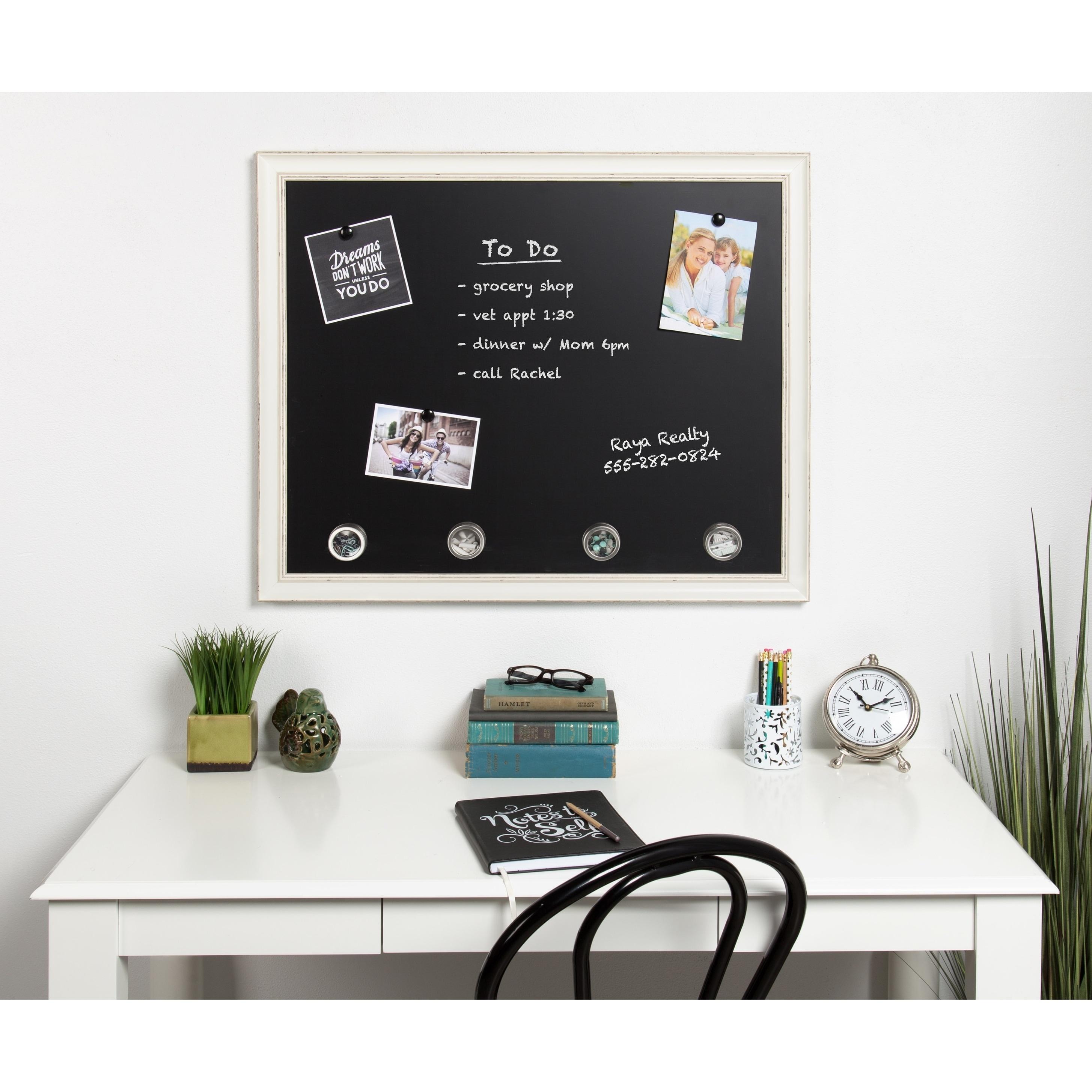 Shop DesignOvation Macon Framed Magnetic Chalkboard - On Sale - Free ...