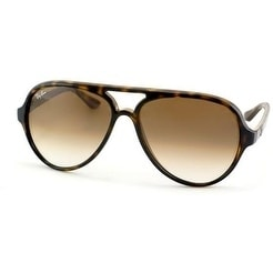 Shop Ray-Ban Aviator Cats 5000 Unisex Sunglasses RB4125-710 51-59 ... 712d98dd45a5
