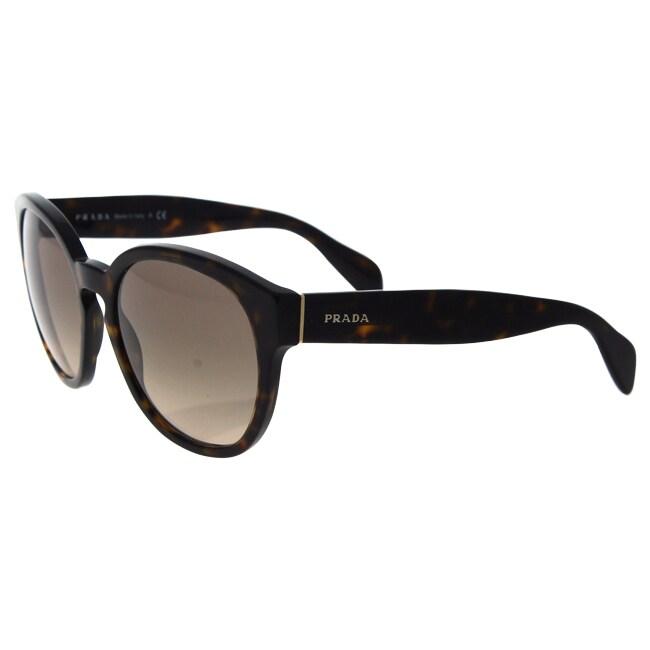 5515fc627806 ... best shop prada spr 18r 2au 3d0 womens havana light brown gradient lens  light grey sunglasses ...