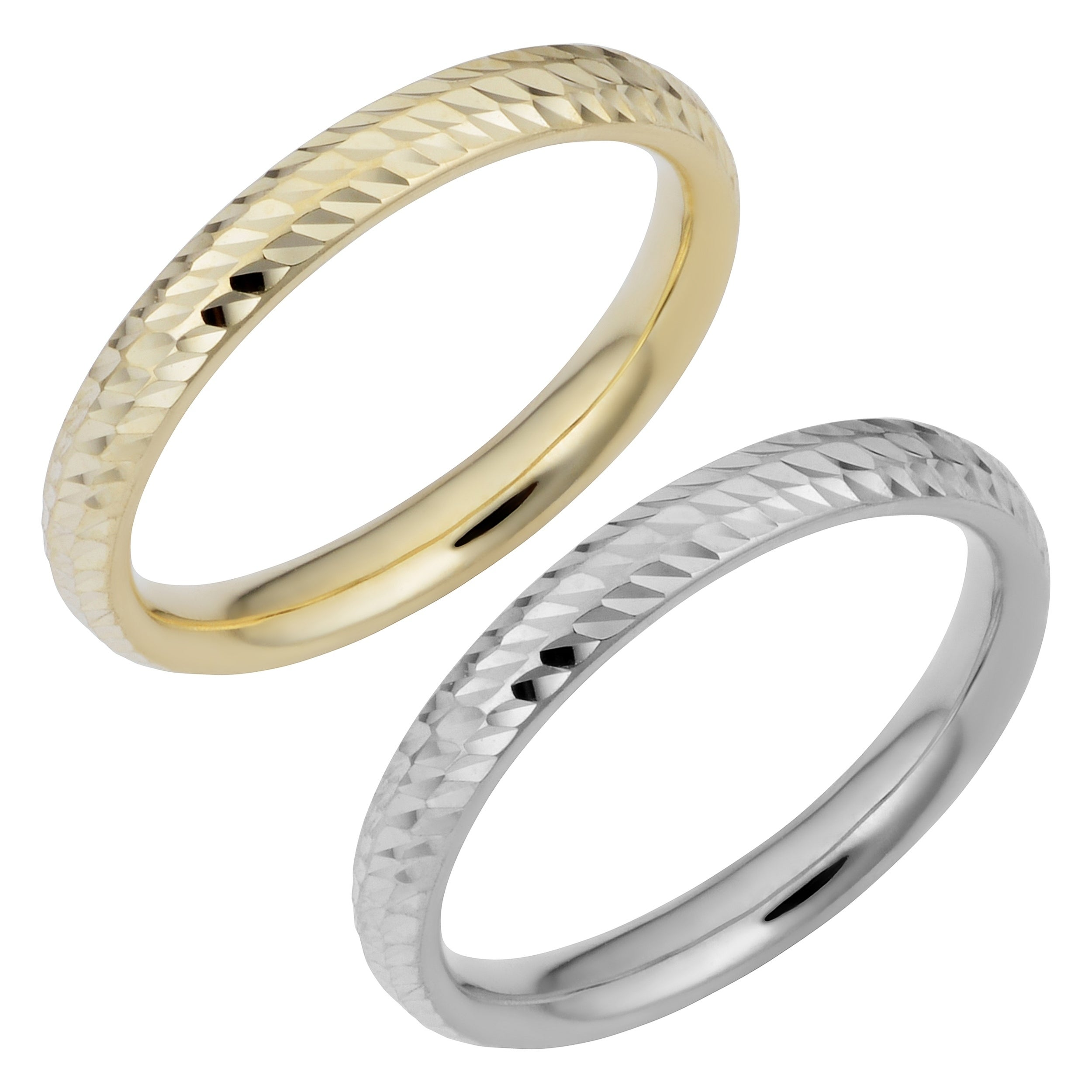 wedding band gold set and trio ring solid hers diamond his bands engagement