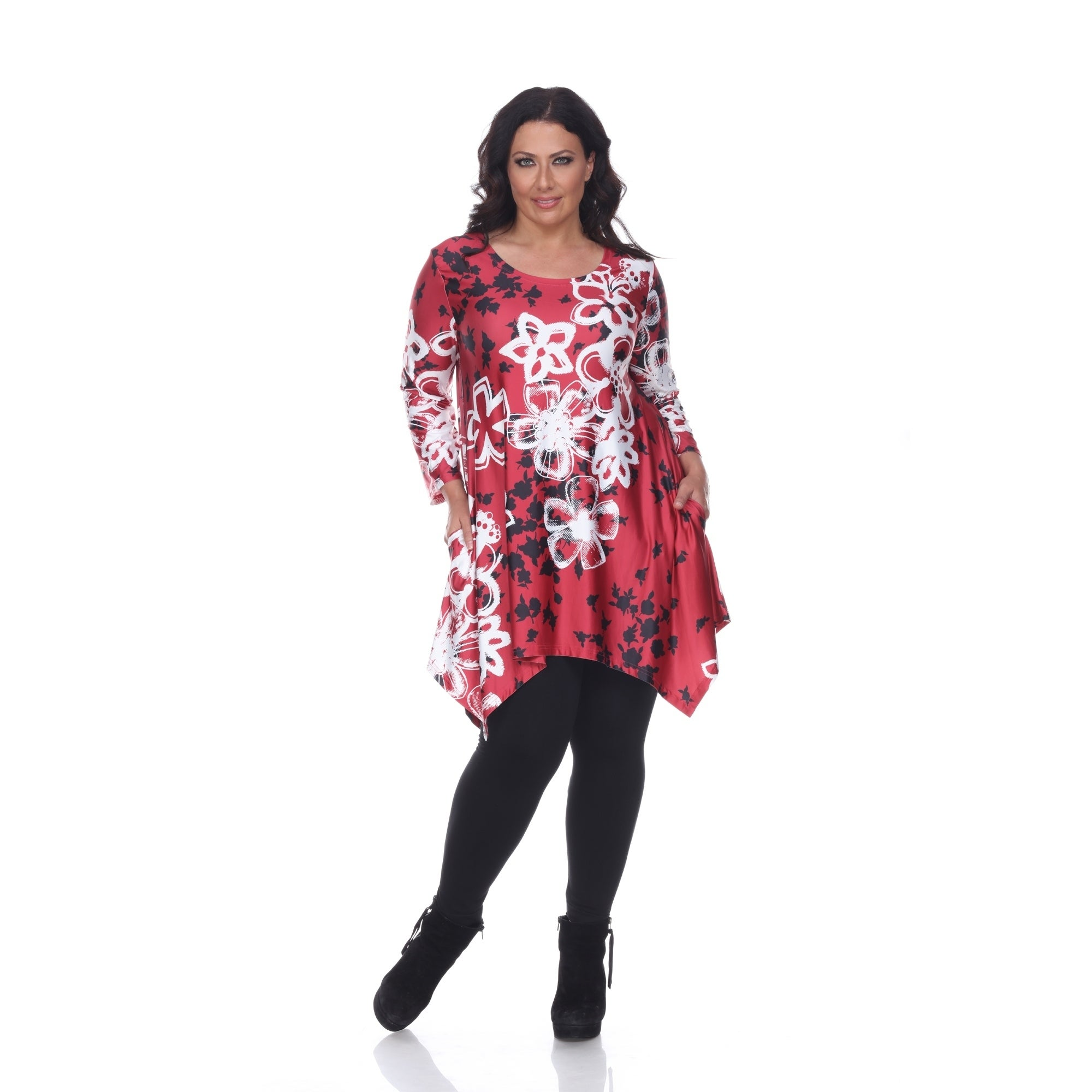 Charmant Shop White Mark Plus Size U0027Iolau0027 Tunic   Free Shipping On Orders Over $45    Overstock.com   17373749