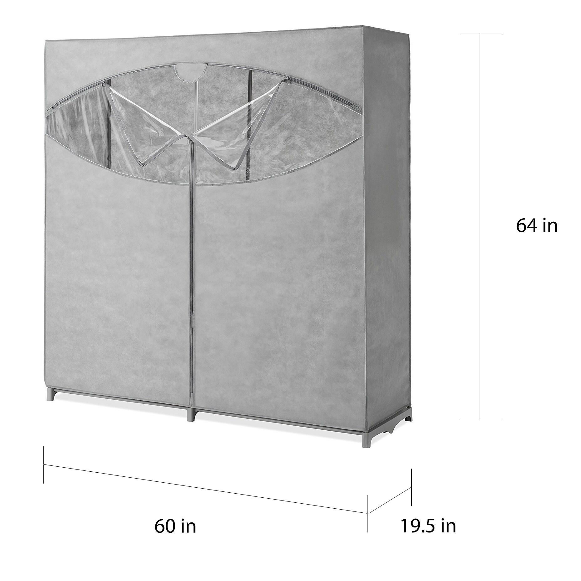 Whitmor Portable Wardrobe Clothes Storage Organizer Closet With