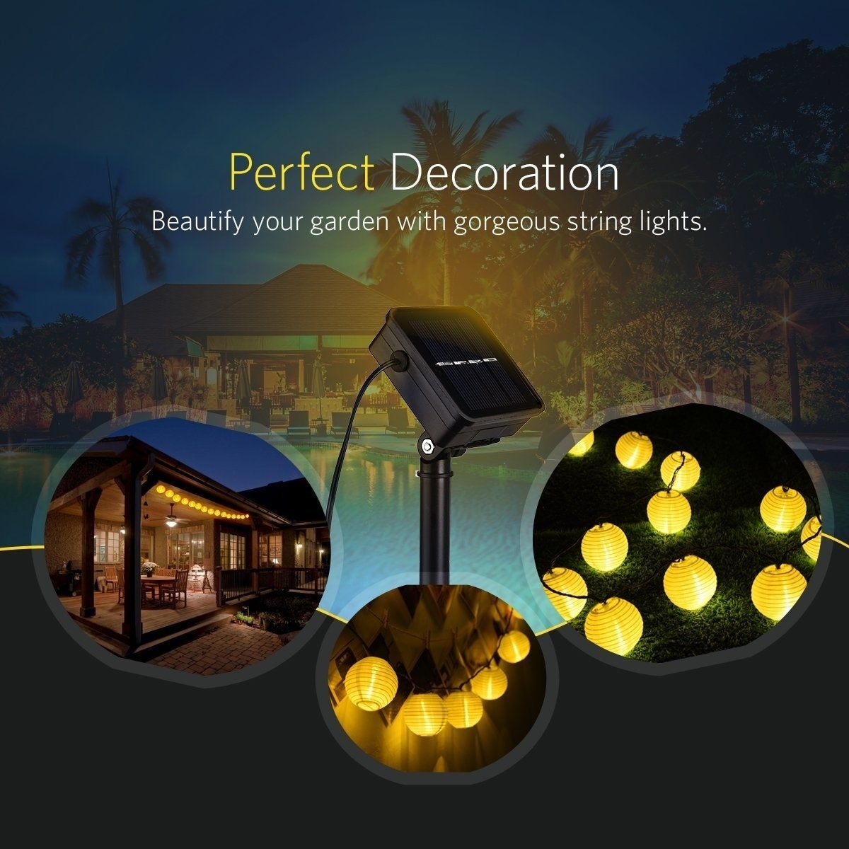 Shop Lantern Waterproof Ambient Outdoor Solar String Lights for Home ...