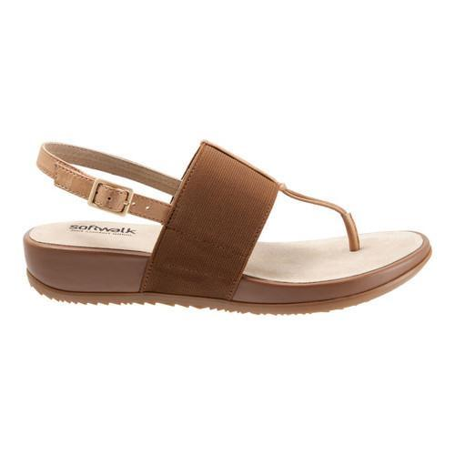69eb3c060fa7 ... Thumbnail Women  x27 s SoftWalk Daytona Thong Sandal Tan Natural Elastic  Soft ...